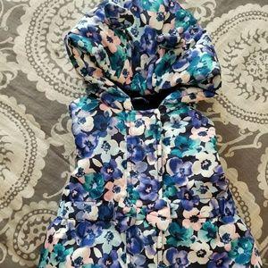 NWT Gymboree Floral Puffer Vest